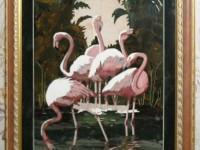 Флорентийская мозайка. Фламинго