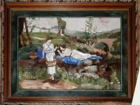 Флорентийская мозайка. Парень и девушка