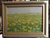 Картина маслом. поле одуванчиков. 9100 рублей.