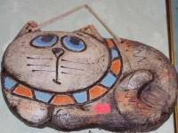 Кот. Панно. Шамотная глина. 450 рублей